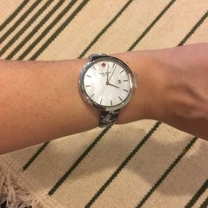 Kate Spade silver leather watch